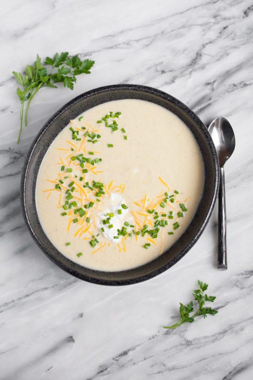 DIY creamy cauliflower soup (via https:)