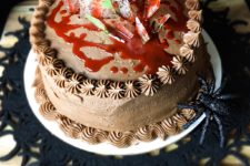 DIY caramel chocolate cake with Nutella frosting