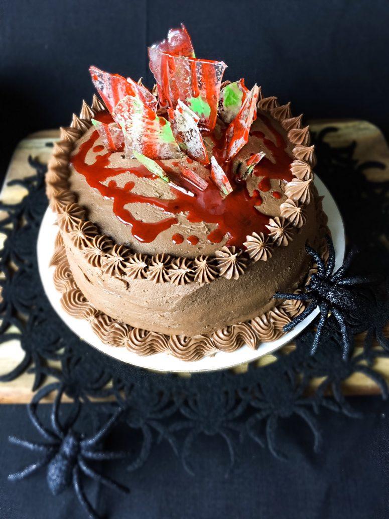 DIY caramel chocolate cake with Nutella frosting (via kelliericecakes.com)