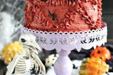 DIY Halloween pumpkin Oreo cake