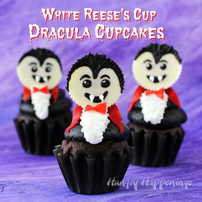 DIY Dracula cupcakes (via hungryhappenings.com)