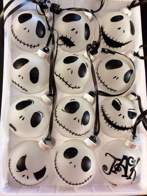 Jack Skellington ornaments can be hung here and there for party decor