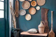 eye-catchy baskets wall decor