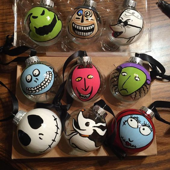 make some nightmare before christmas ornaments to decorate your own christmas tree