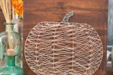 08 a neutral string art pumpkin art will be a gorgeous decoration on you rmantel