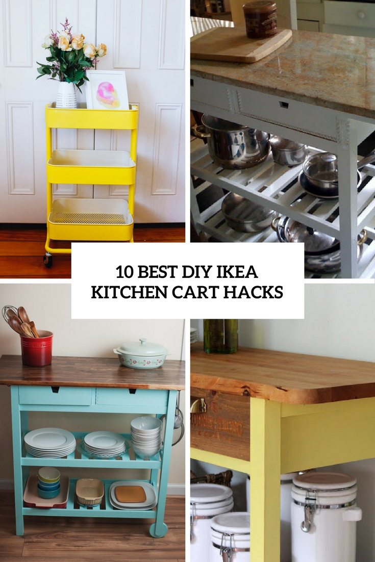 10 Best DIY Ikea Kitchen Cart Hacks - Shelterness