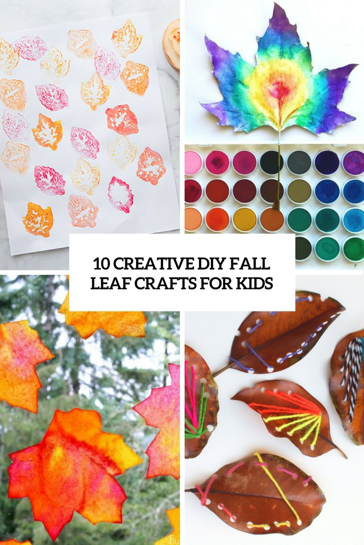 creative diy fall leaf crafts for kids cover