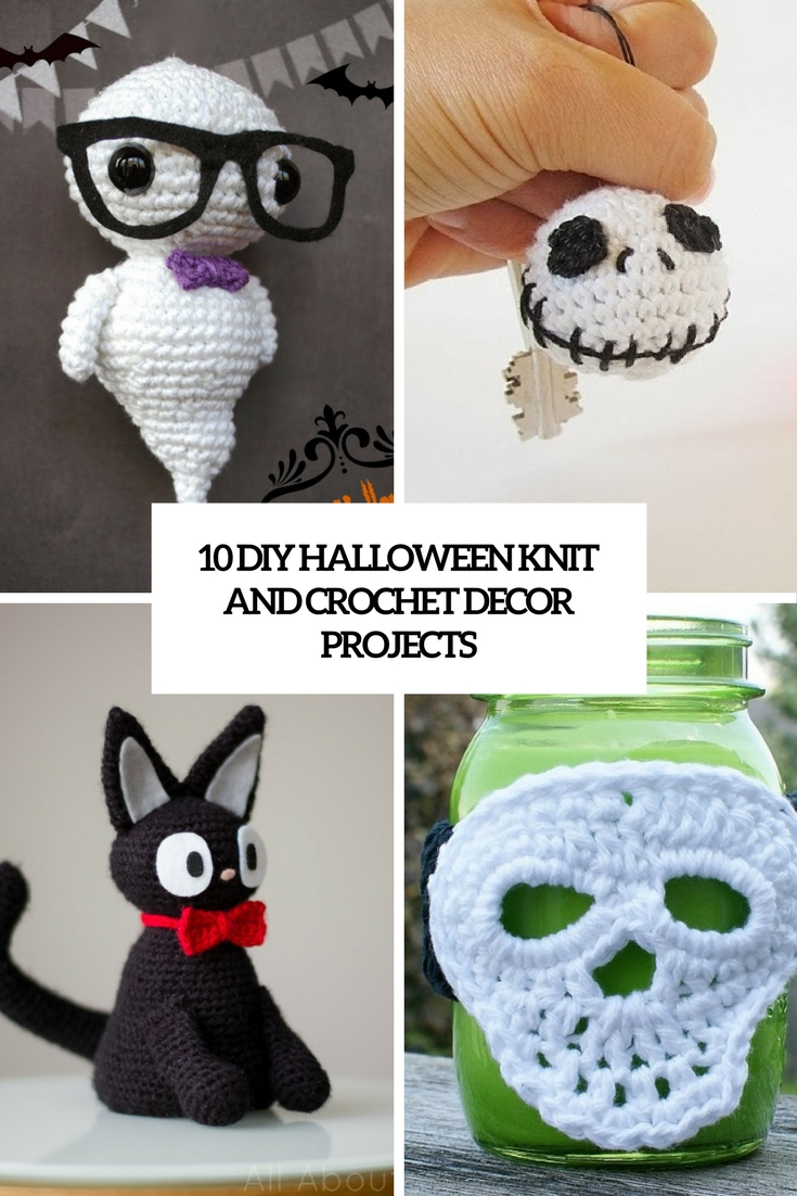 diy halloween knit and crochet decor projects cover