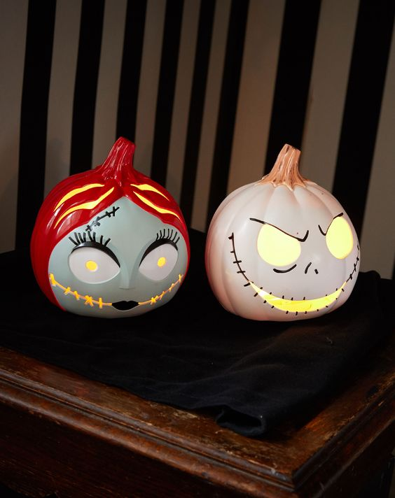 these light up The Nightmare Before Christmas pumpkins are simply meant to be in your home