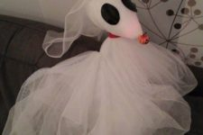 11 Zero from Nightmare Before chsristmas can be easily made by you from white tulle