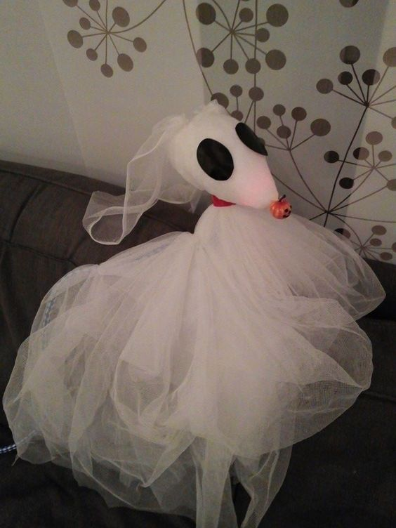 Zero from Nightmare Before chsristmas can be easily made by you from white tulle