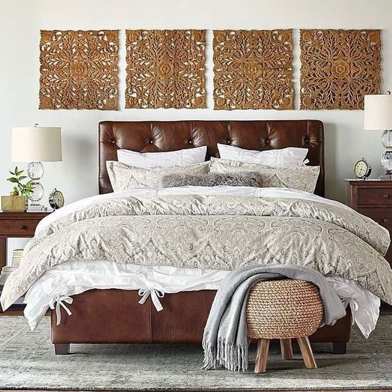 15 upholstered headboard ideas for a cozy bedroom for Masculine headboards