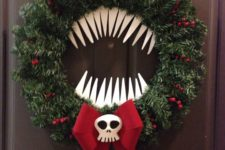 14 man eating wreath inspired from The Nightmare Before Christmas