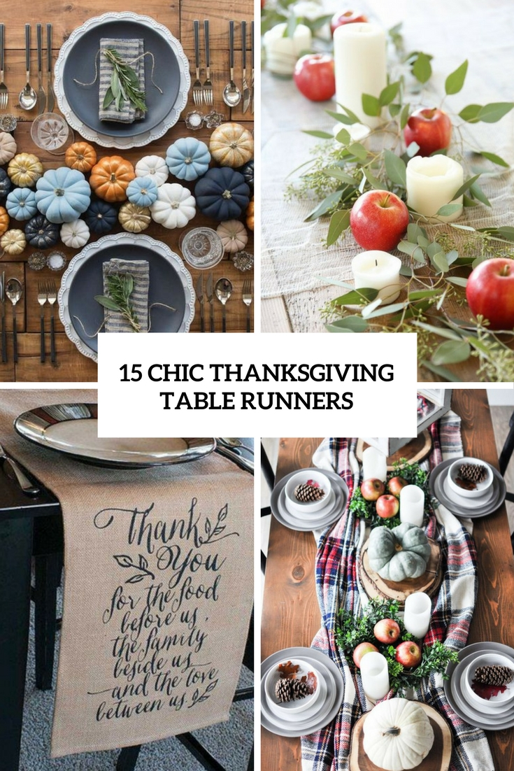 15 Chic Thanksgiving Table Runners