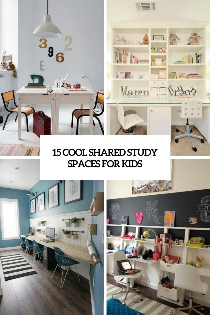 15 Cool Shared Study Spaces For Kids