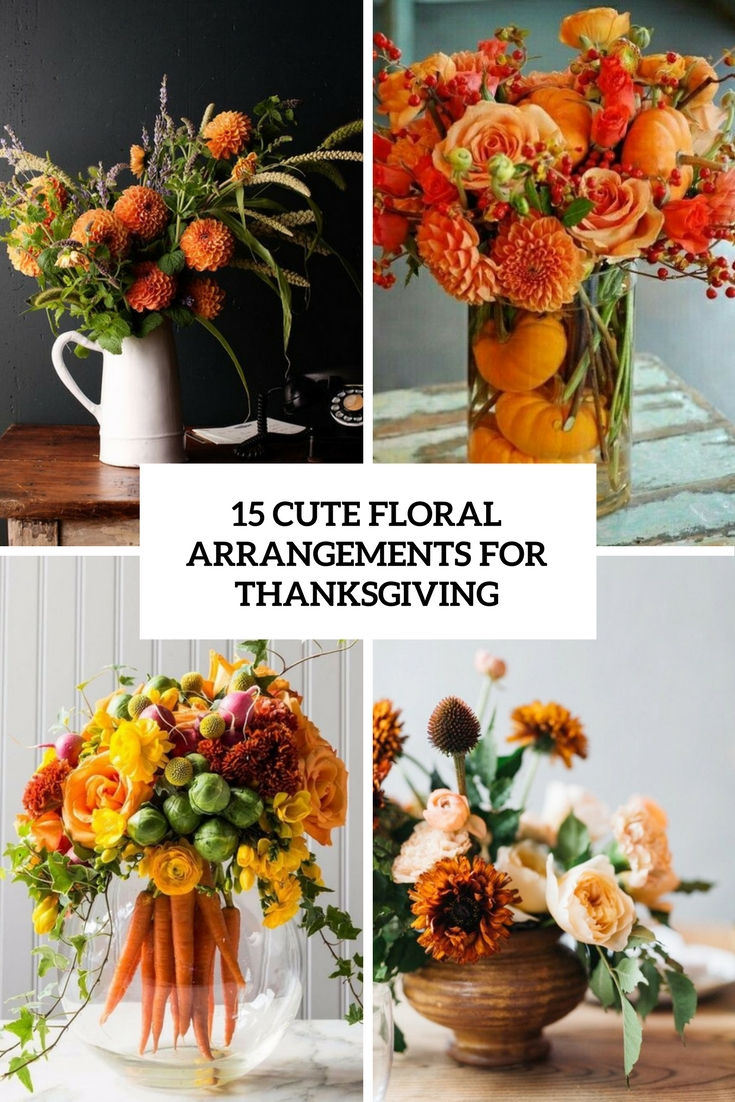 cute floral arrangements for thanksgiving cover