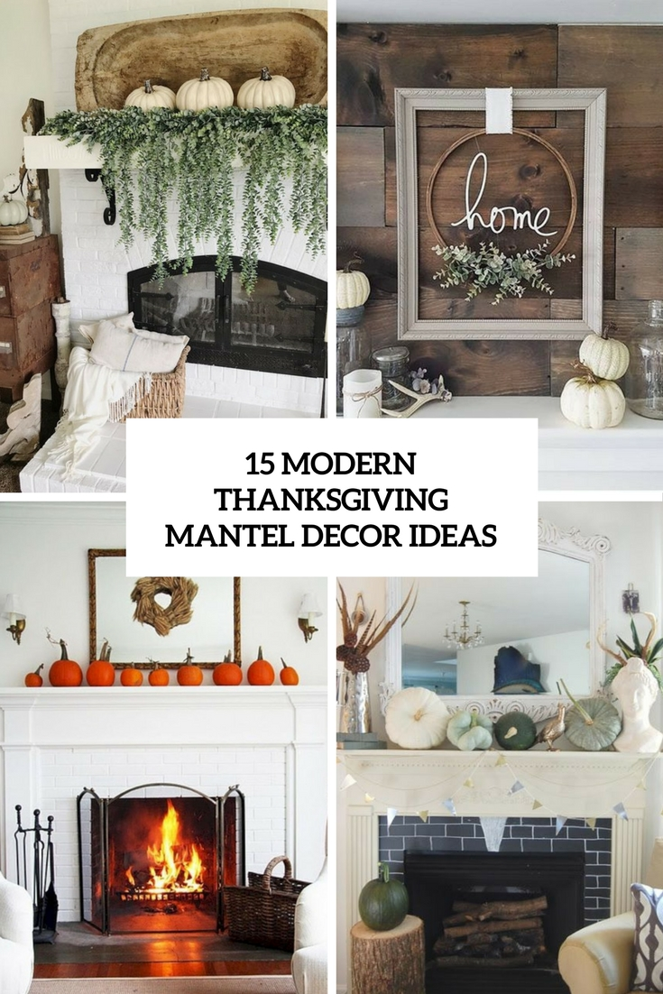 modern thanksgiving mantel decor ideas cover