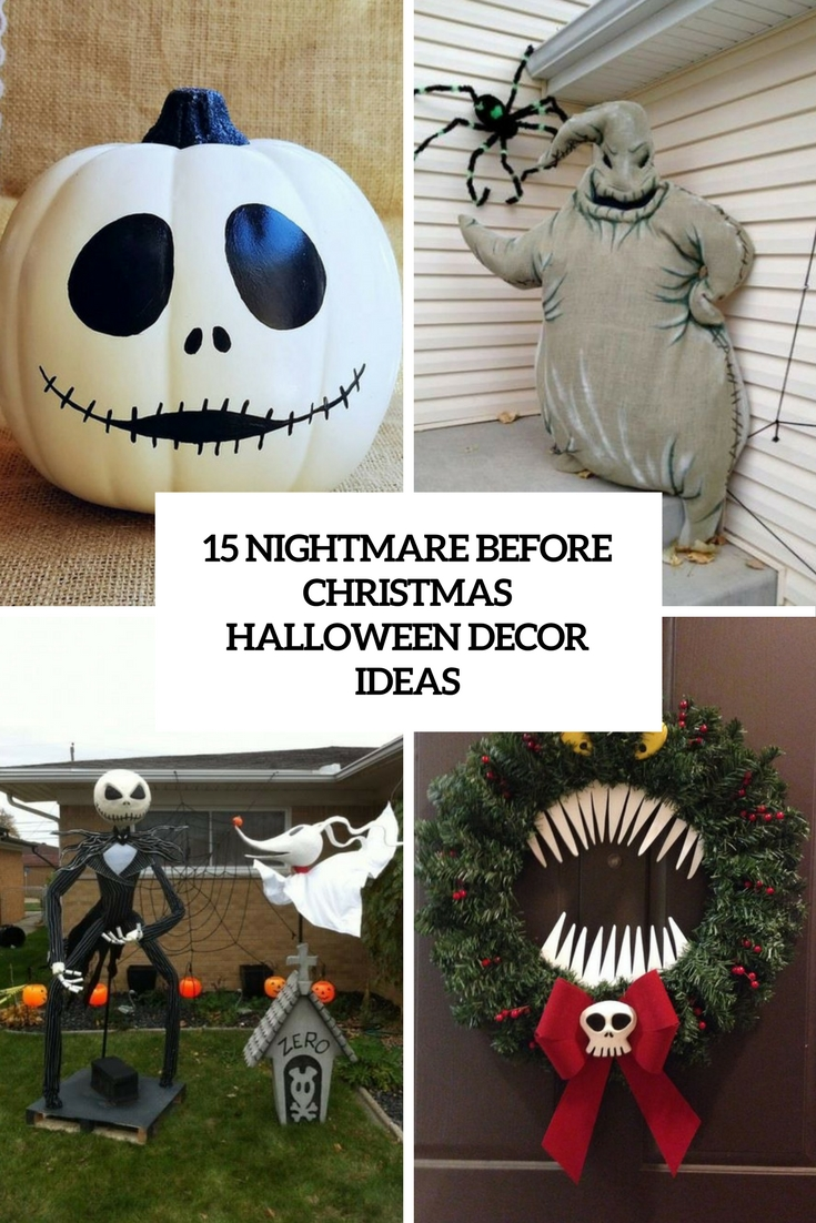 nightmare before christmas halloween decor ideas cover - The Nightmare Before Christmas Decorations