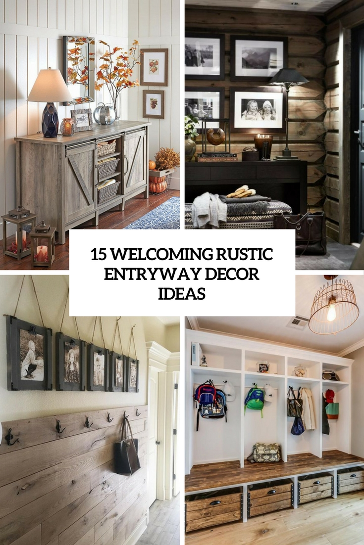 welcoming rustic entryway decor ideas cover