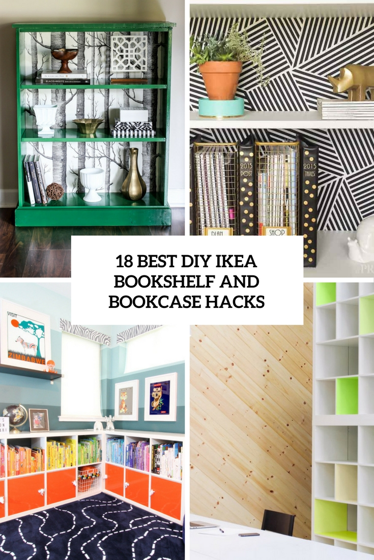 best diy ikea bookshelf and bookcase hacks cover