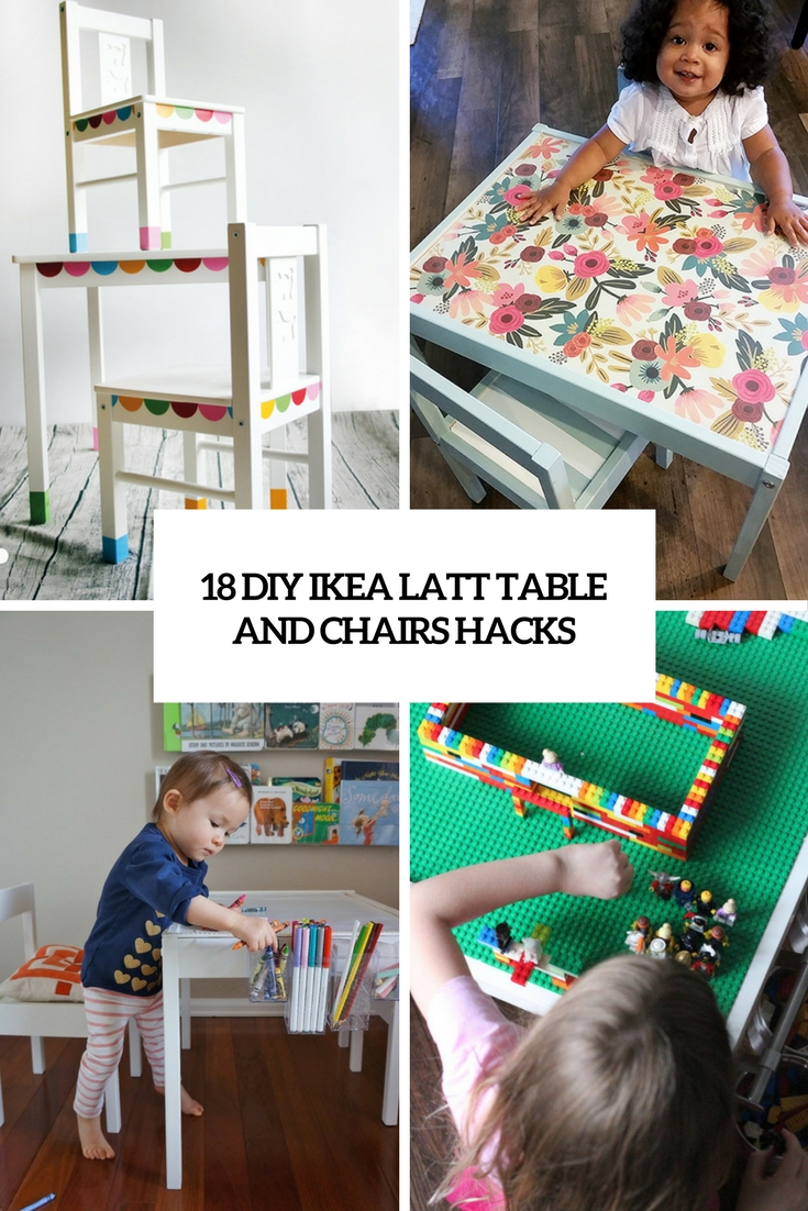 18 DIY IKEA Latt Table And Chairs Hacks