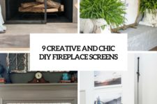 9 creative and chic diy fireplace screens cover
