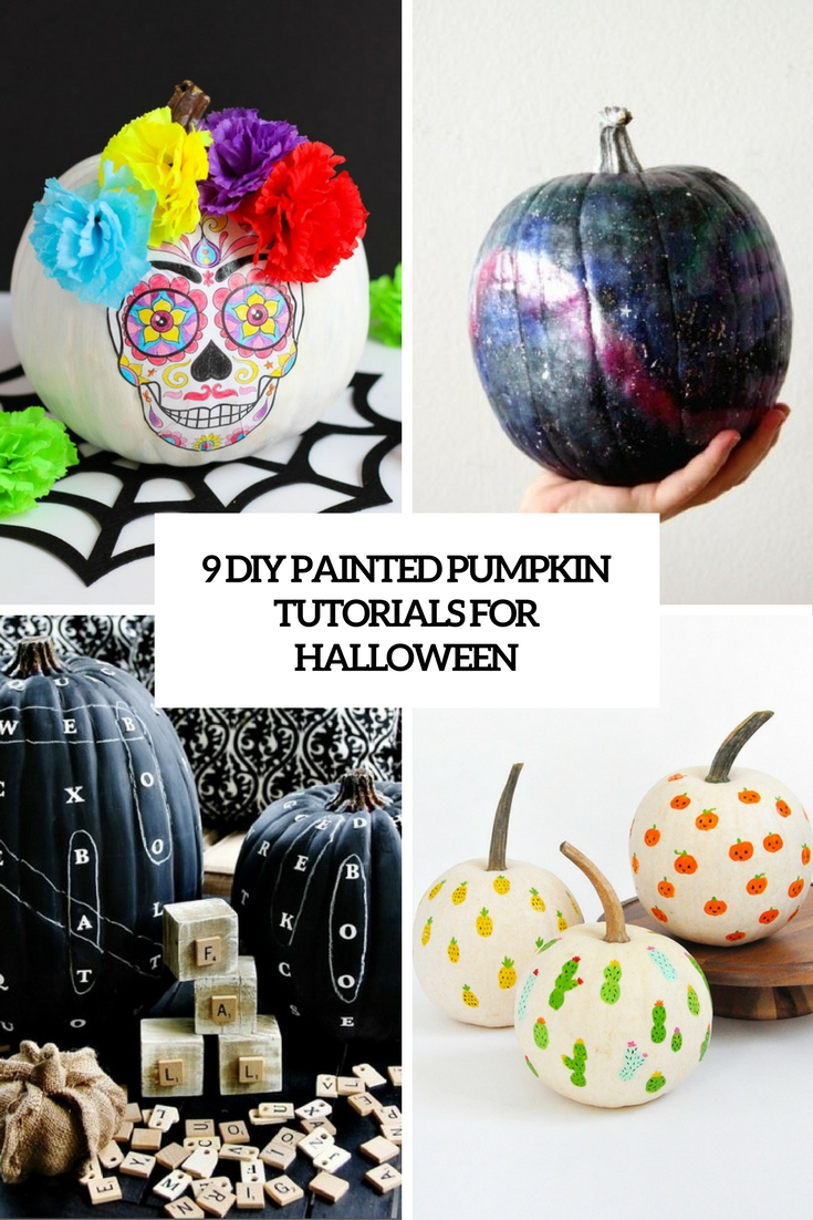 9 diy painted pumpkin tutorials for halloween cover