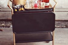 DIY restyled liquor cart