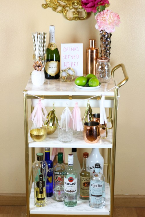 DIY IKEA Bygel cart (via www.shelterness.com)