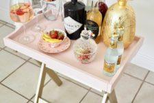 DIY pink IKEA bar cart