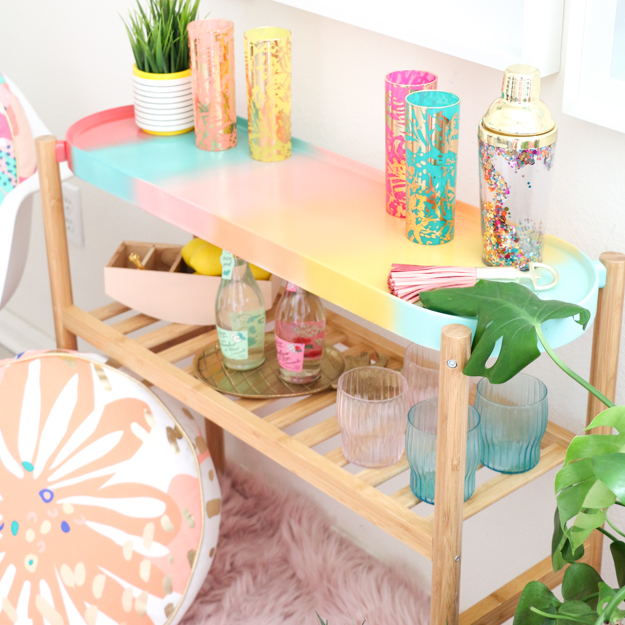 DIT gradient bar cart (via www.akailochiclife.com)