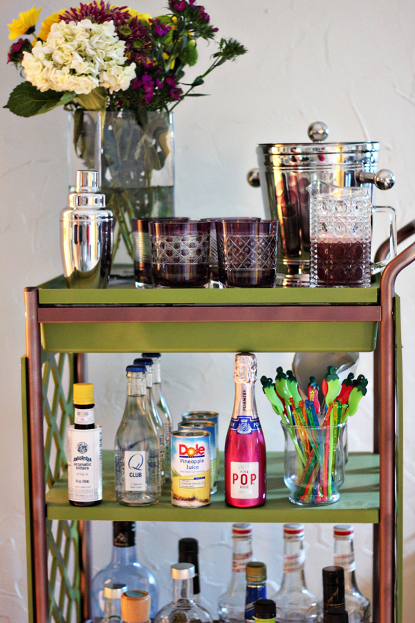 DIY IKEA bar cart hack (via theflairexchange.com)