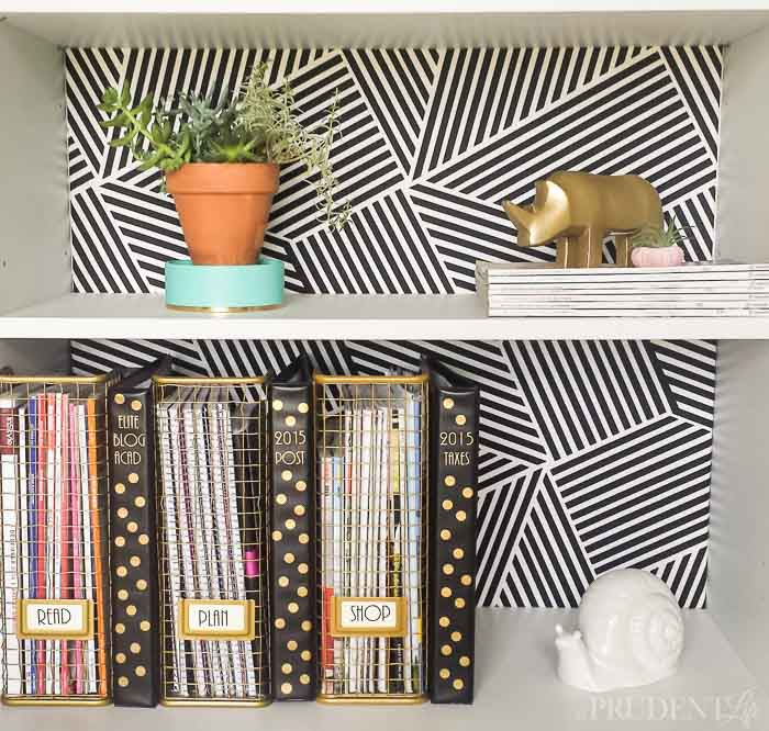 DIY IKEA BORGJSO bookshelf hack  (via www.polishedhabitat.com)