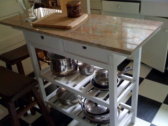 DIY IKEA cart into a kitchen island (via maliasprojects.blogspot.ru)