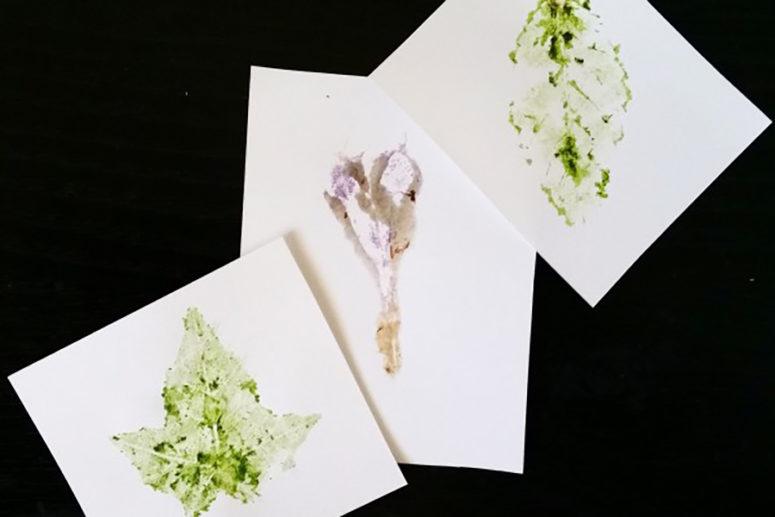 DIY leaf printing art (via homanathome.com)