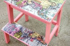 DIY Bekvam stool hack with maps