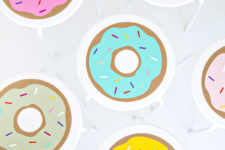 DIY IKEA stool hack with donut vinyl stickers