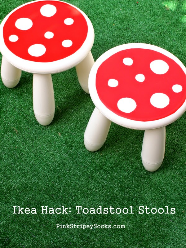 DIY Mammut stool into a toadstool  (via www.pinkstripeysocks.com)