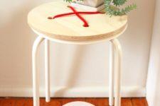 DIY Marius stool into a button one