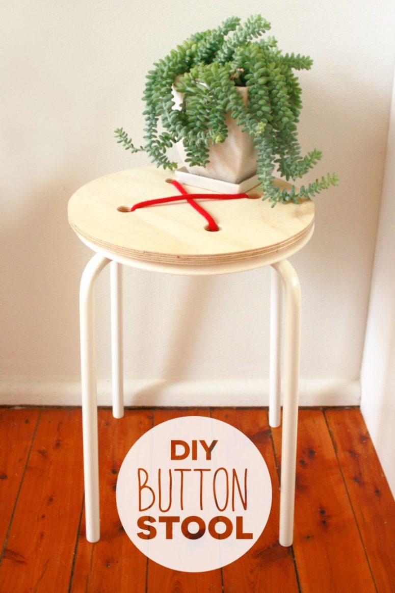 DIY Marius stool into a button one (via makerssociety.com.au)