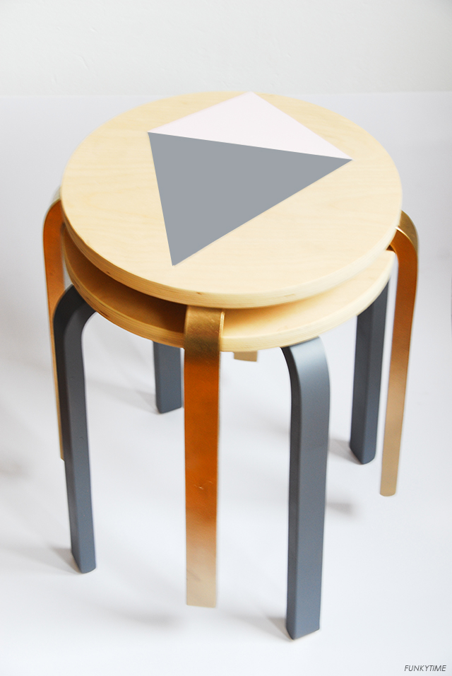 DIY fancy stools using spray paint (via fun.kyti.me)