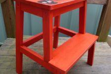 DIY Bekvam stool with stencils