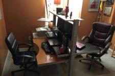 DIY 2 sided IKEA Jerker desk