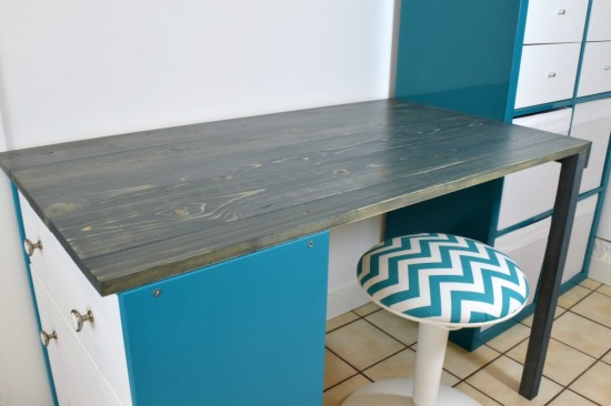 DIY desk from Rast and Kallax (via www.ikeahackers.net)