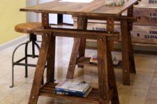 DIY VIKA ARTUR legs and a top into a desk