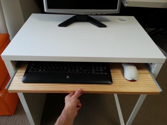 Diy Ikea Micke Desk With A Keyboard Tray Via Ikeaers Net