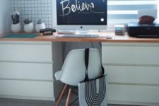 DIY desk from IKEA Malm drawers