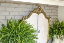 DIY French-style fireplace screen