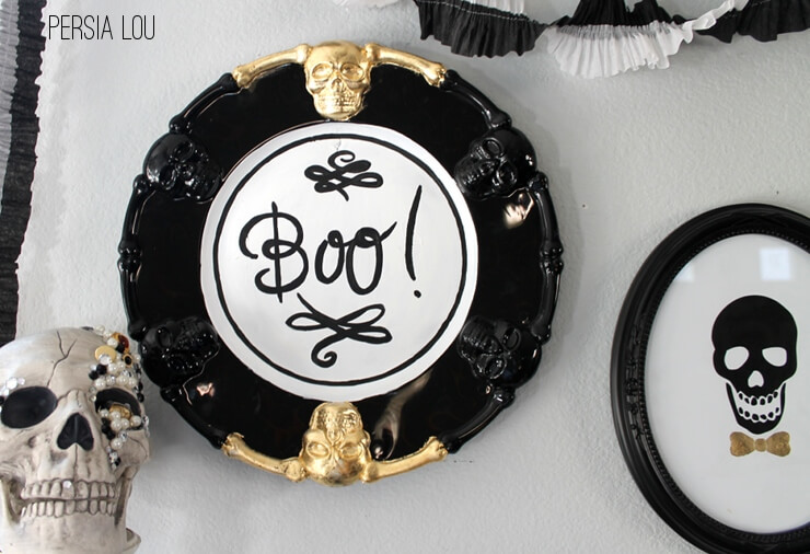 DIY Halloween BOO plaque