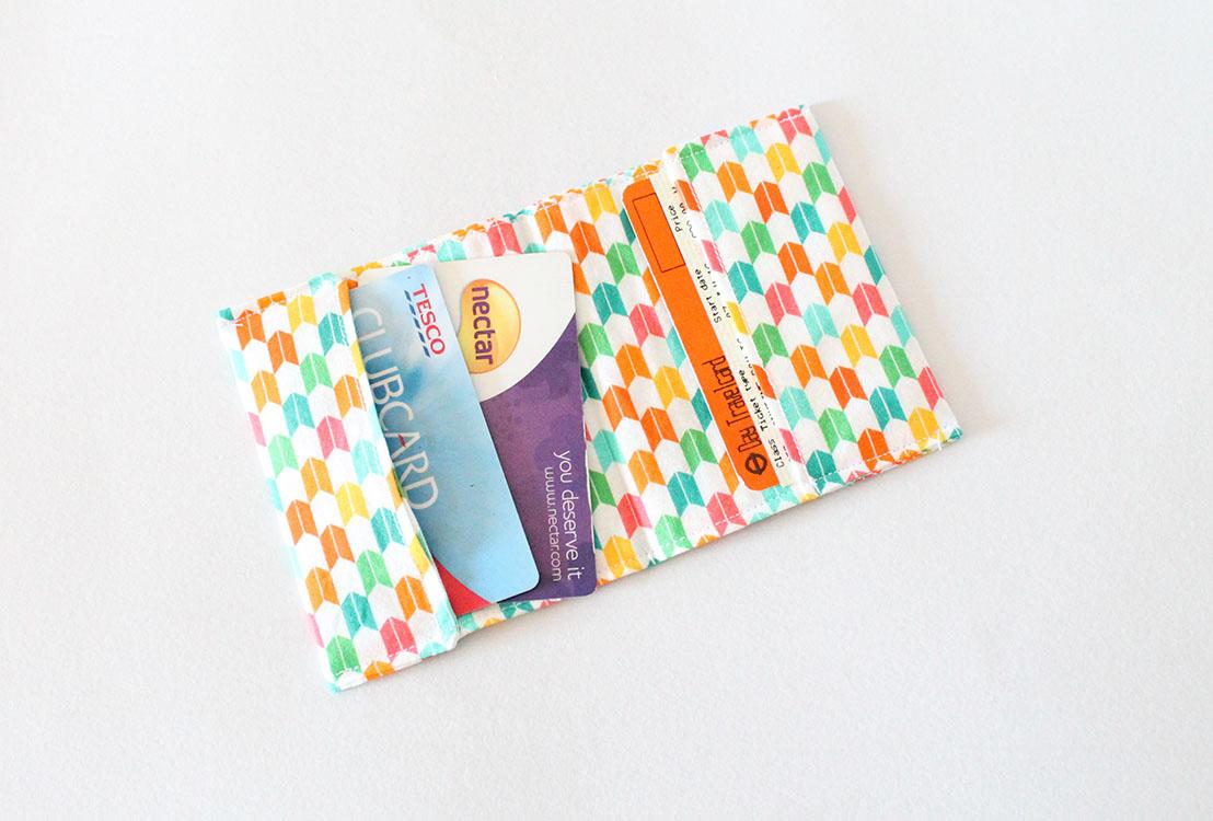 DIY fabric card wallet